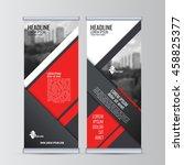 roll up business banner design...   Shutterstock .eps vector #458825377