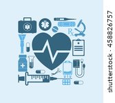 medical concept abstract ... | Shutterstock .eps vector #458826757