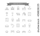 furniture icon set | Shutterstock .eps vector #458828155