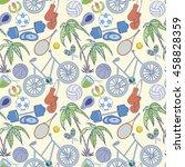 seamless sport rio 2016 pattern ... | Shutterstock .eps vector #458828359