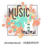 vector template for a concert... | Shutterstock .eps vector #458839429