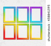 set of colorful wooden frames.... | Shutterstock .eps vector #458841595