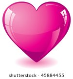 Glitter Pink Heart  Vector...
