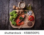 cholesterol diet  healthy food... | Shutterstock . vector #458850091