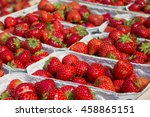 Strawberries At Market Stand  ...