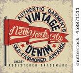 vintage typography emblem ... | Shutterstock .eps vector #458871511