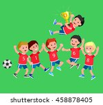 cute vector character sports... | Shutterstock .eps vector #458878405