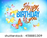 birthday card vector | Shutterstock .eps vector #458881309