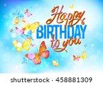 birthday card vector | Shutterstock .eps vector #458881309