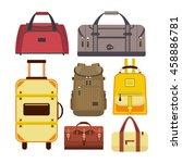 set of travel bags.... | Shutterstock . vector #458886781