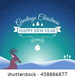 merry christmas and happy new... | Shutterstock . vector #458886877