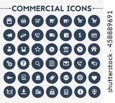 big commercial icon set | Shutterstock .eps vector #458889691