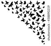 butterflies on a white | Shutterstock .eps vector #458890219