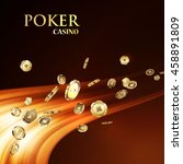 chips  the concept of a casino. | Shutterstock .eps vector #458891809