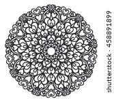 mandala pattern.vector vintage... | Shutterstock .eps vector #458891899