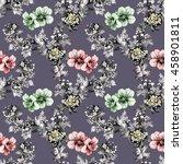 watercolor seamless pattern... | Shutterstock . vector #458901811