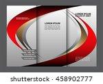 brochure mock up design... | Shutterstock .eps vector #458902777