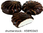 zephyr at chocolate isolated on ... | Shutterstock . vector #45890365