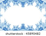 blue vintage ornamental border | Shutterstock . vector #45890482