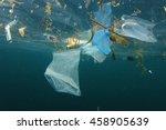 plastic ocean pollution | Shutterstock . vector #458905639