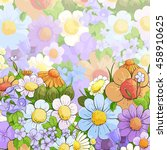 floral bright background | Shutterstock .eps vector #458910625