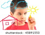 adorable 6 years old boy... | Shutterstock . vector #45891553