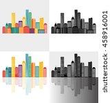 creative building design... | Shutterstock .eps vector #458916001