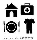4 basic human needs icon set | Shutterstock .eps vector #458919394