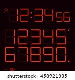 digital clock   number set | Shutterstock .eps vector #458921335