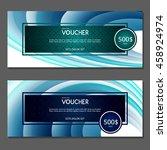 gift voucher. vector ... | Shutterstock .eps vector #458924974
