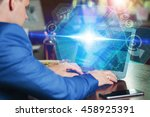 business  technology  internet... | Shutterstock . vector #458925391