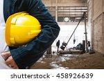 engineer contractor with... | Shutterstock . vector #458926639