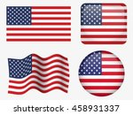 set of united states flag | Shutterstock .eps vector #458931337