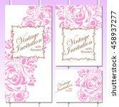vintage delicate invitation... | Shutterstock .eps vector #458937277