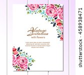 romantic invitation. wedding ... | Shutterstock .eps vector #458938471