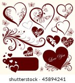 love valentine day vector set... | Shutterstock .eps vector #45894241