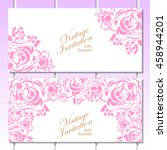 invitation with floral... | Shutterstock .eps vector #458944201