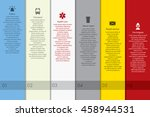 vector infographics with public ... | Shutterstock .eps vector #458944531