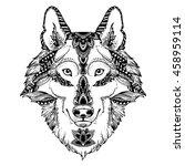 animal head print for adult...   Shutterstock .eps vector #458959114