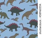 vector seamless pattern. hand... | Shutterstock .eps vector #458960554