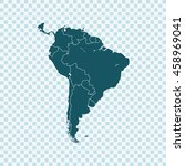 map of south america | Shutterstock .eps vector #458969041