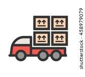 loaded truck | Shutterstock .eps vector #458979079