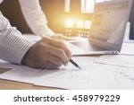 businessperson signing contract ... | Shutterstock . vector #458979229