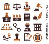 attorney  court  law icon set | Shutterstock .eps vector #458979769