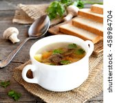Diet Mushroom Soup With...
