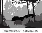 inside forest   vector | Shutterstock .eps vector #458986345