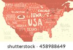 handdrawn illustration of usa... | Shutterstock .eps vector #458988649