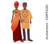 african family. african man and ... | Shutterstock .eps vector #458993281