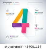 number infographic template... | Shutterstock .eps vector #459001159