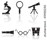 set of optical icons ... | Shutterstock .eps vector #45900250